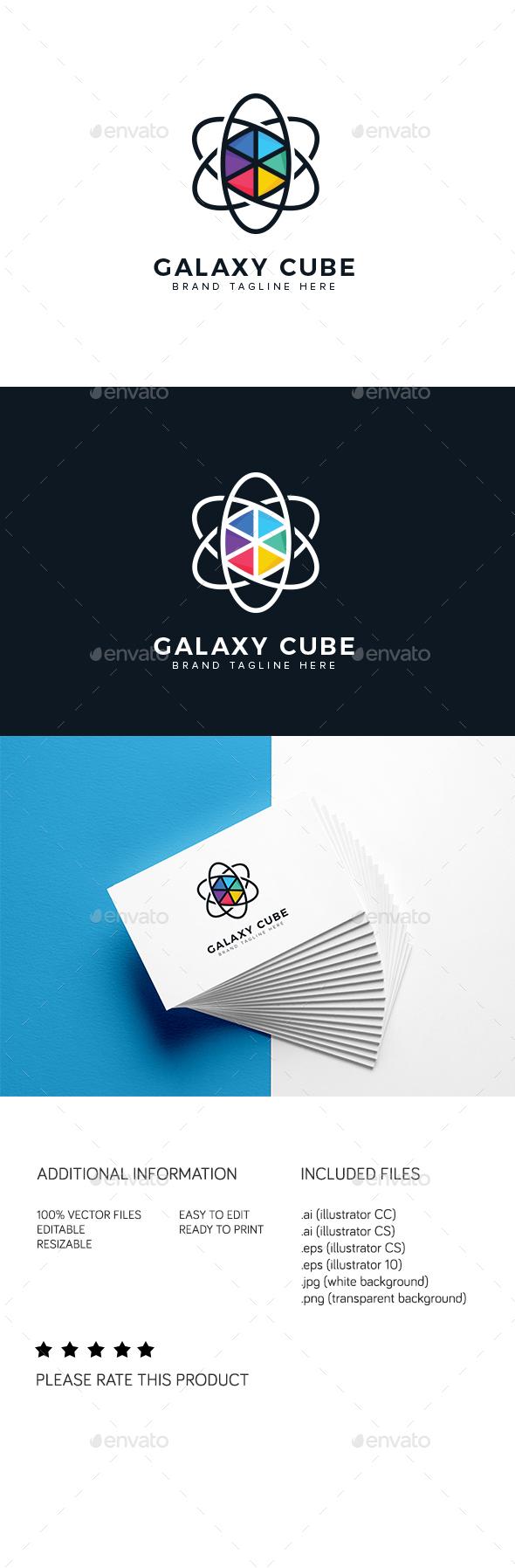Galaxy Cube Logo - Abstract Logo Templates
