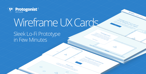Protogonist – More Than 150 Wireframe UX Cards For Rapid Prototyping - Sketch Templates