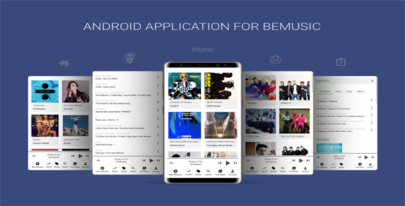 Android Application For BeMusic - CodeCanyon Item for Sale