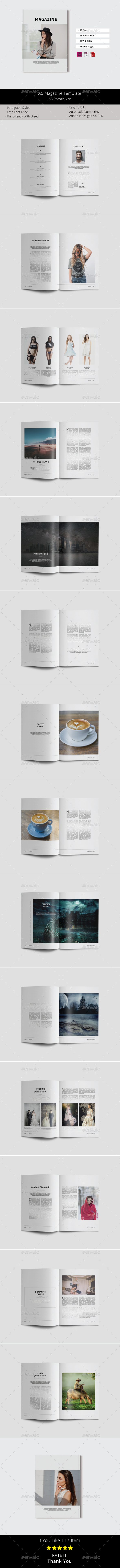 A5 Magazine Template - Magazines Print Templates