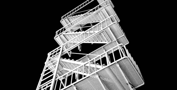 Emergency Stairs ( Fire Escape ) - 3DOcean Item for Sale