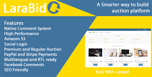 LaraBid - A Laravel PHP Auction Platform - CodeCanyon Item for Sale