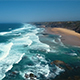 Aerial Footage of Ocean Waves Reaching Shore at West Coast Portugal - VideoHive Item for Sale
