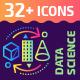 32+ Data Science Outline Icons - GraphicRiver Item for Sale