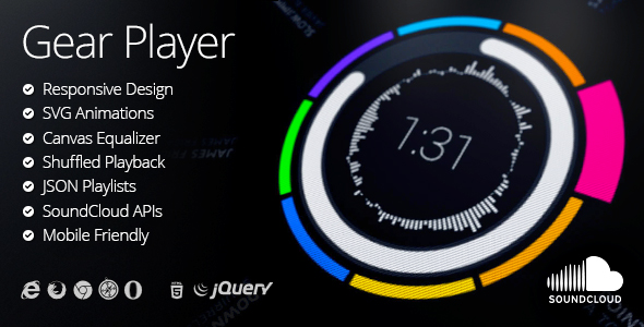 Gear HTML5 Audio Player - CodeCanyon Item for Sale