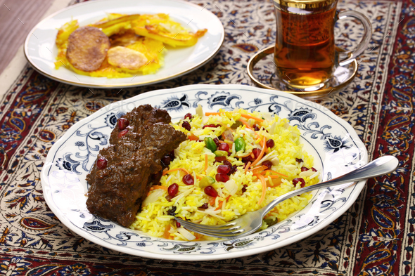 iranian persian cuisine - Stock Photo - Images
