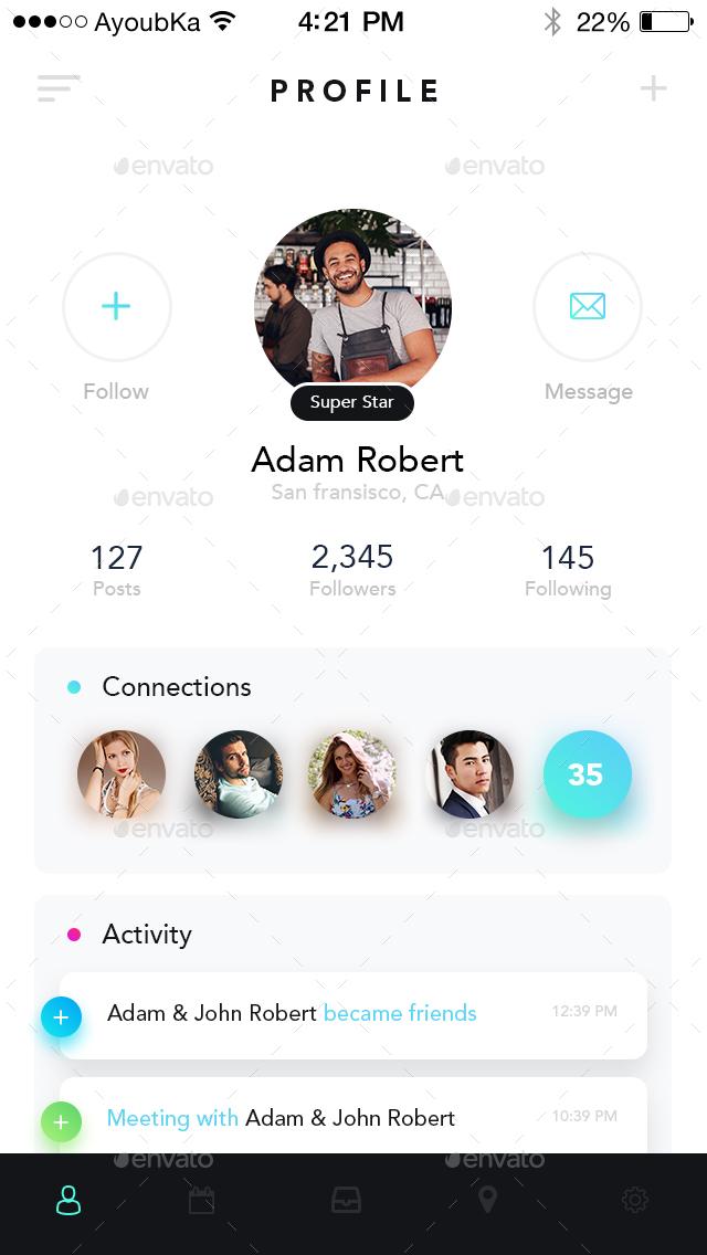 Chatly - Mobile App UI Kit Design