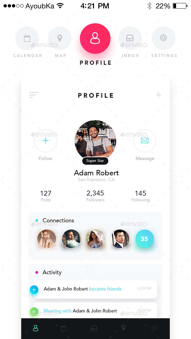 Chatly - Mobile App UI Kit Design