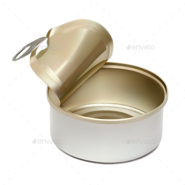 Empty Tin Can - Food Objects