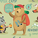 Camping Animals Hand Drawn Style - GraphicRiver Item for Sale