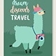 Travel Animals Card Set,
