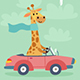 Travel Animals Card Set - GraphicRiver Item for Sale