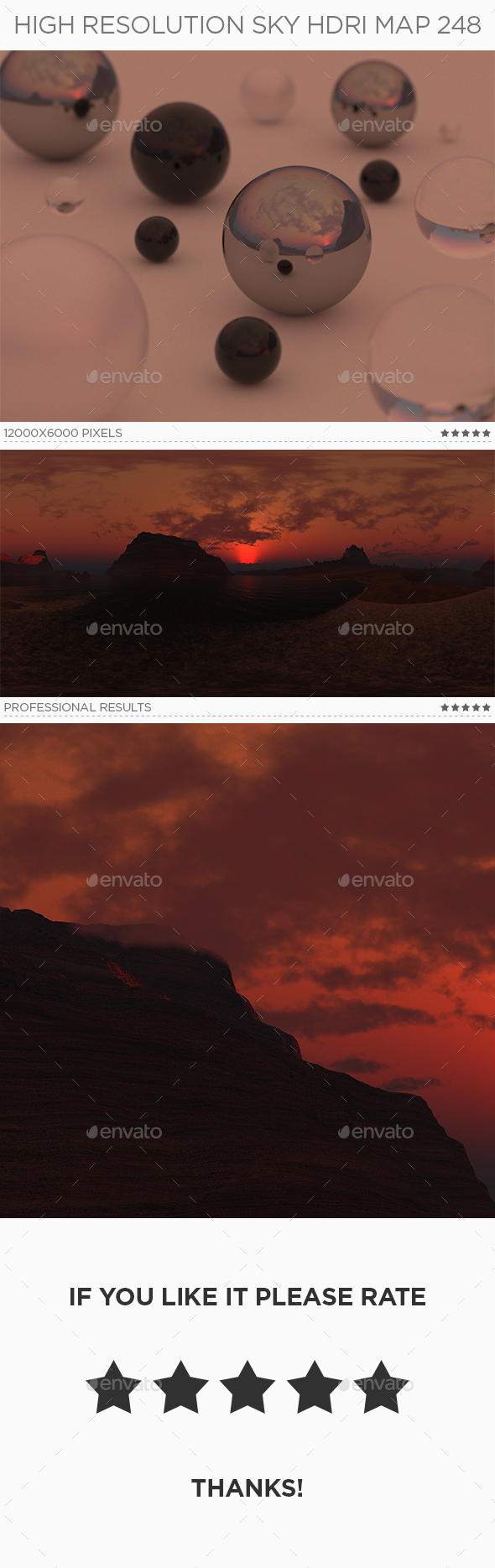 High Resolution Sky HDRi Map 248 - 3DOcean Item for Sale