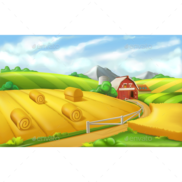 Farm Landscape Panorama - Landscapes Nature