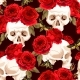 Seamless Skulls and Roses - GraphicRiver Item for Sale