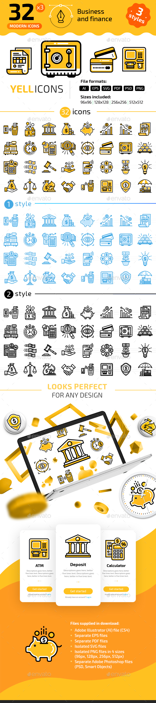 32+ Business & Finance Line Icons - Business Icons