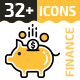 32+ Business & Finance Line Icons - GraphicRiver Item for Sale