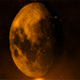 Moon in Space with Fire Particles - VideoHive Item for Sale