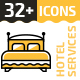 32+ Hotel Services Line Icons - GraphicRiver Item for Sale