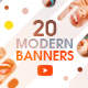 YouTube Bundle - 20 Modern Banners - GraphicRiver Item for Sale