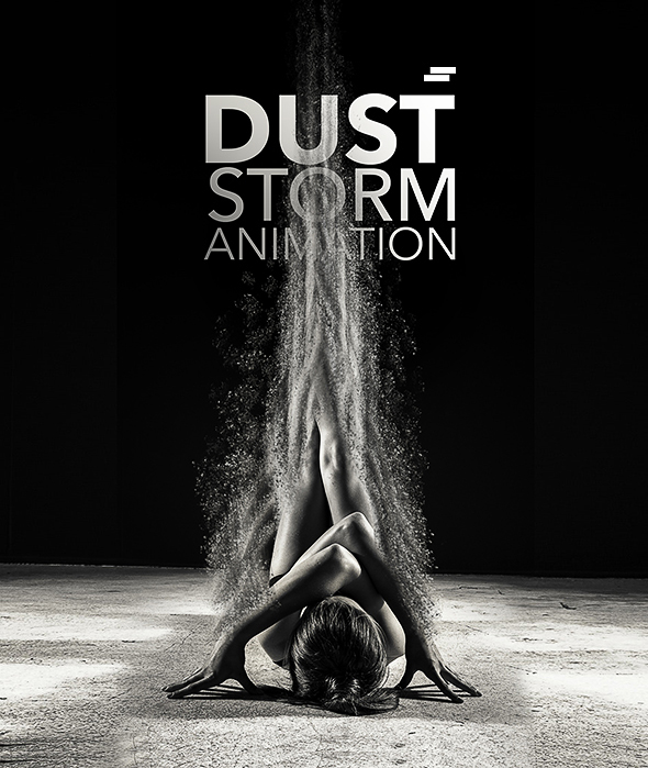 Dust Storm Animation Photoshop Action - Photo Effects Actions
