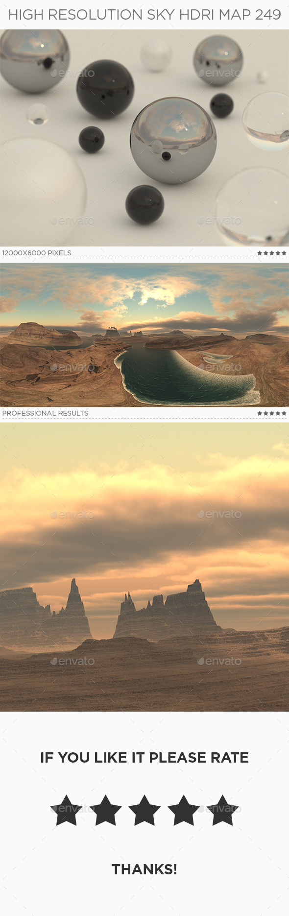 High Resolution Sky HDRi Map 249 - 3DOcean Item for Sale