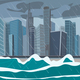 Incoming Sea Tornado Hurricane on Business City - GraphicRiver Item for Sale
