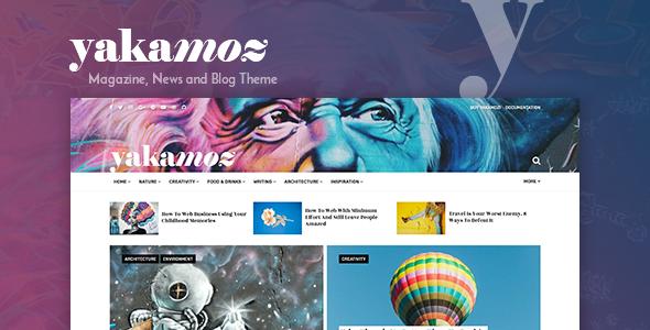 Yakamoz - Magazine, News and Blog WordPress Theme - Blog / Magazine WordPress