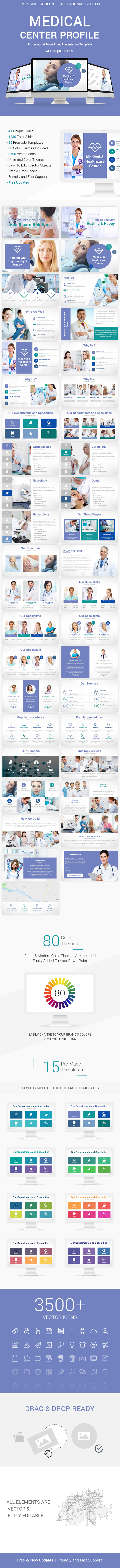 Medical Center Profile PowerPoint Presentation Template Designs - Creative PowerPoint Templates