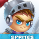 Knight Game Character Sprites 01 - GraphicRiver Item for Sale