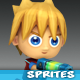 4-Directional Game Character Sprites - GraphicRiver Item for Sale