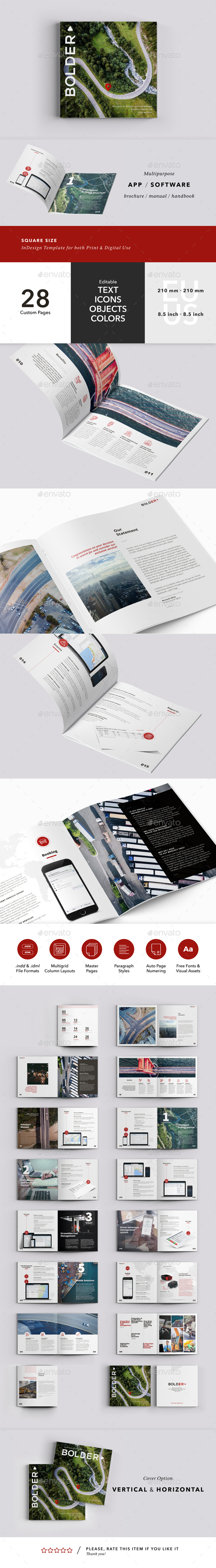 Multipurpose Brochure / Manual Perfect for App / Software - Brochures Print Templates