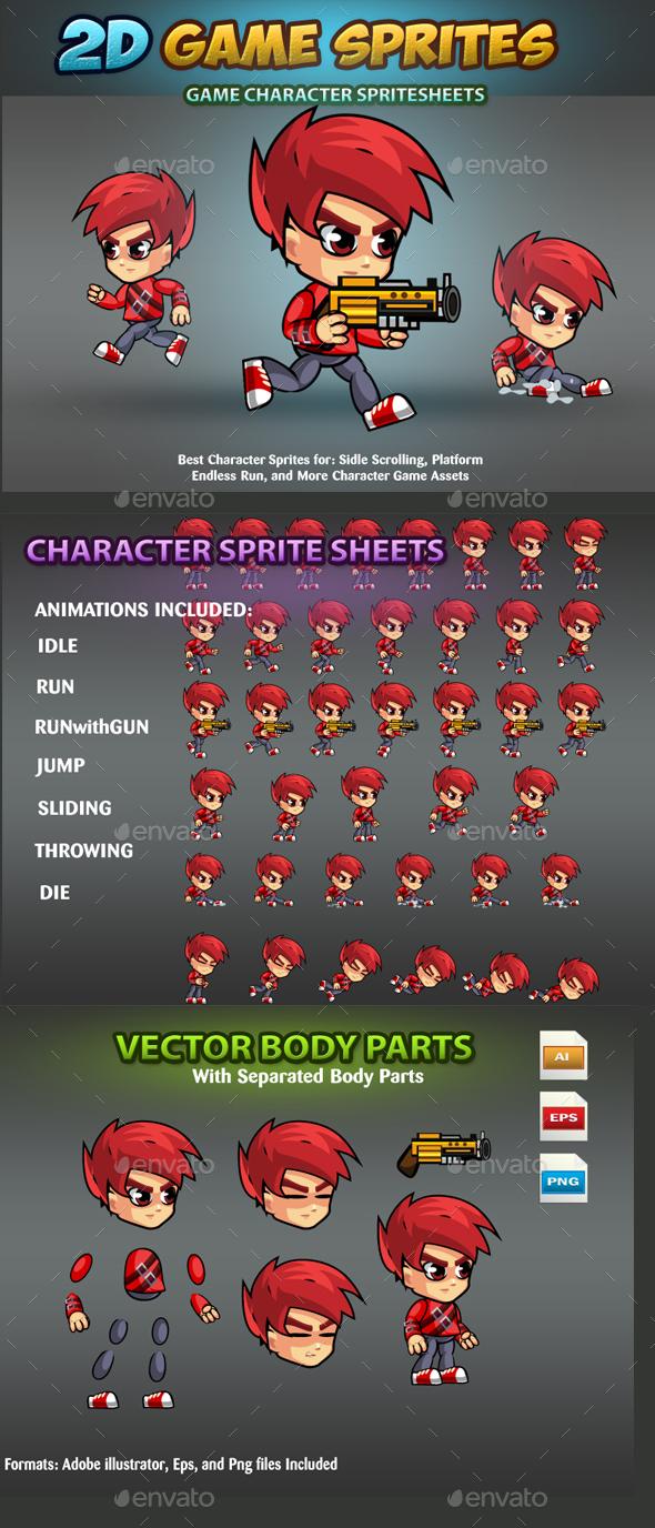 2D Game Character Sprites - Sprites Game Assets