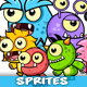 6 Monster Enemies Game Sprites Set - GraphicRiver Item for Sale