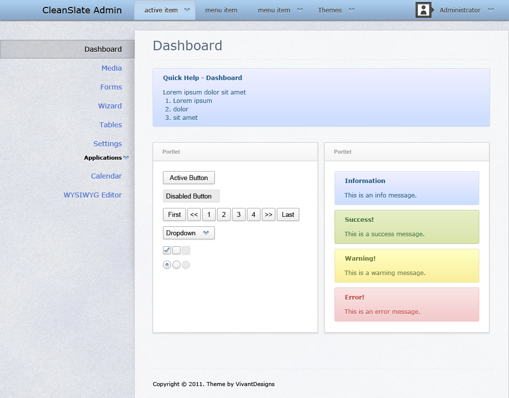 CleanSlate - HTML5+CSS3 Admin Template