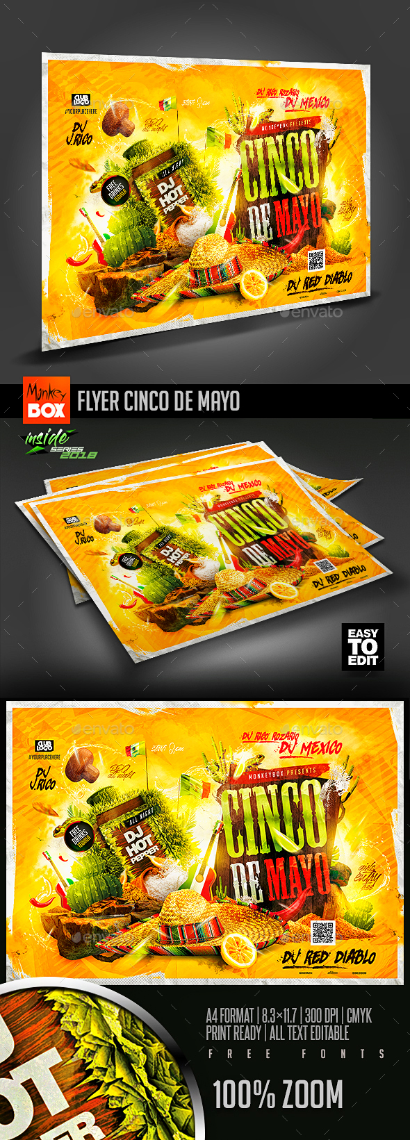 Flyer Cinco de Mayo - Flyers Print Templates