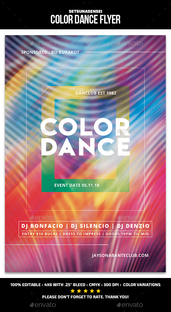 Color Dance Flyer - Events Flyers