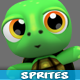 Turtle 4 Directional  Game Character Sprites 08 - GraphicRiver Item for Sale