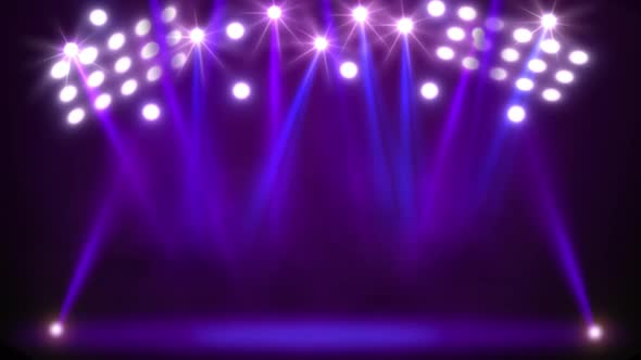 Purple Stage Lights By Thehivestudio
