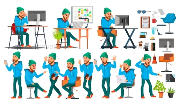 Businessman Character Vector - People Characters
