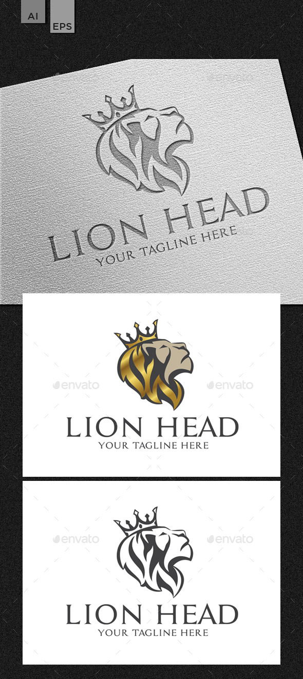 Lion Head - Animals Logo Templates