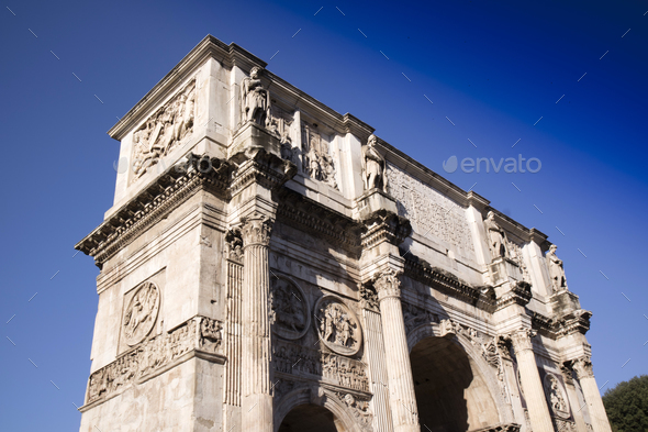 Arch of Constantine Rome - Stock Photo - Images
