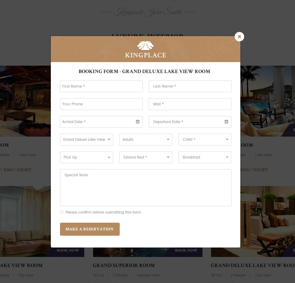 Kingplace luxury hotel resort spa booking wordpress theme by 05 popup bookingg falaconquin