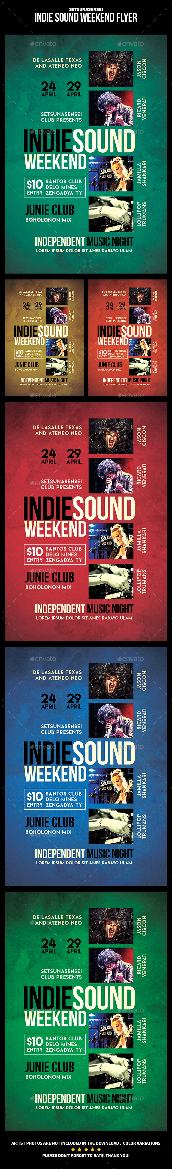 Indie Sound Weekend Flyer - Events Flyers