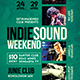 Indie Sound Weekend Flyer - GraphicRiver Item for Sale