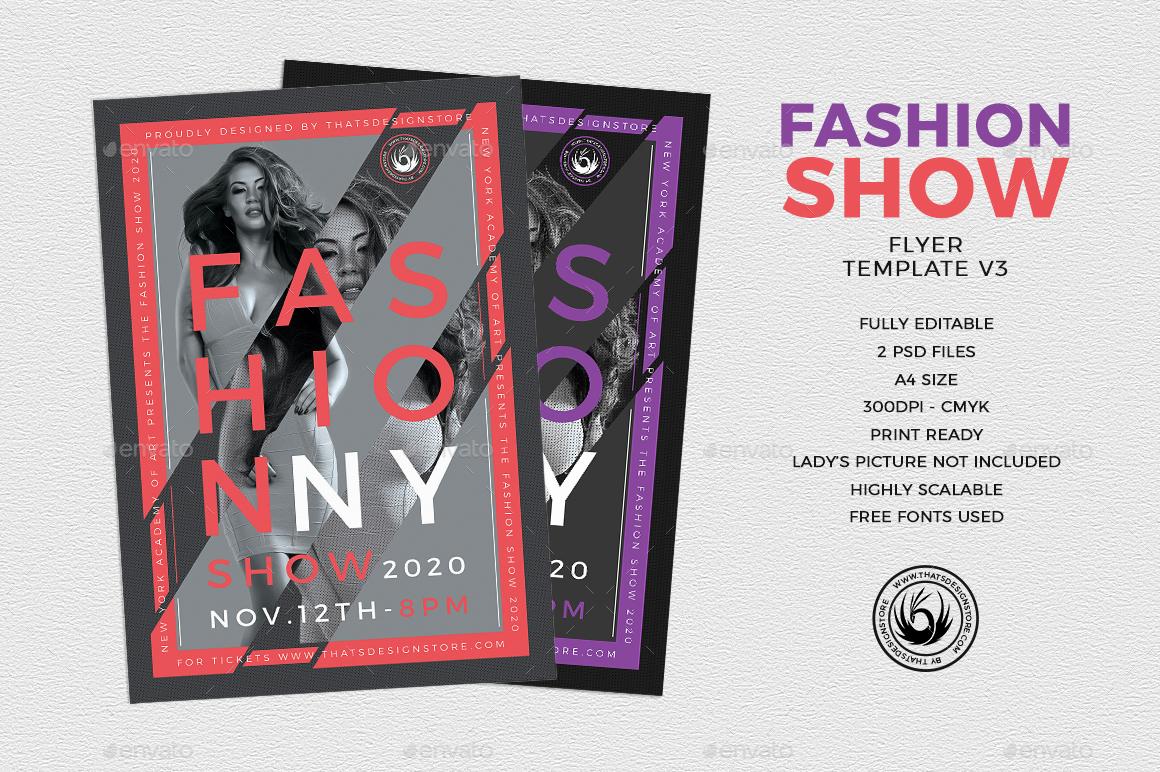 Fashion Show Flyer Template V3