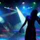 Silhouette of Girl Dancing at a Party at Nightclub - VideoHive Item for Sale