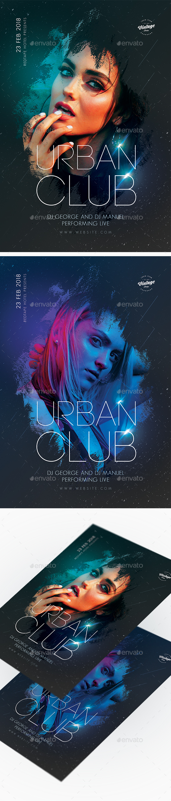Urban Club Party Flyer - Clubs & Parties Events