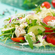 Salad of fresh vegetables - tomato, cucumber and feta cheese in Greek style - PhotoDune Item for Sale