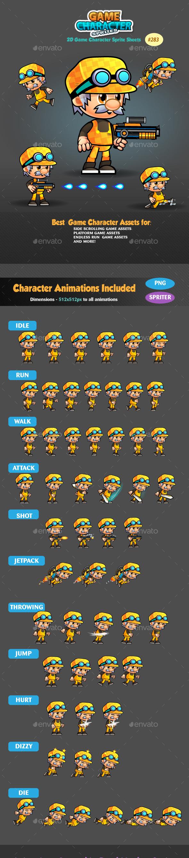 2D Game Character Sprites 283 - Sprites Game Assets